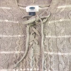 Old navy lace up sweater